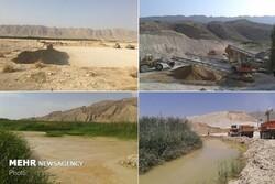 زخم برداشت غیرمجاز شن و ماسه بر بستر رودخانههای لرستان
