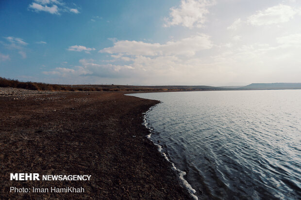 Abshineh Dam Lake of Hamadan Province