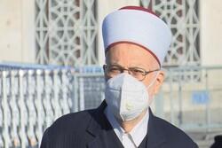Kudüs Müftüsü Ayasofya Camii'nde Cuma Namazı'nı kıldırdı