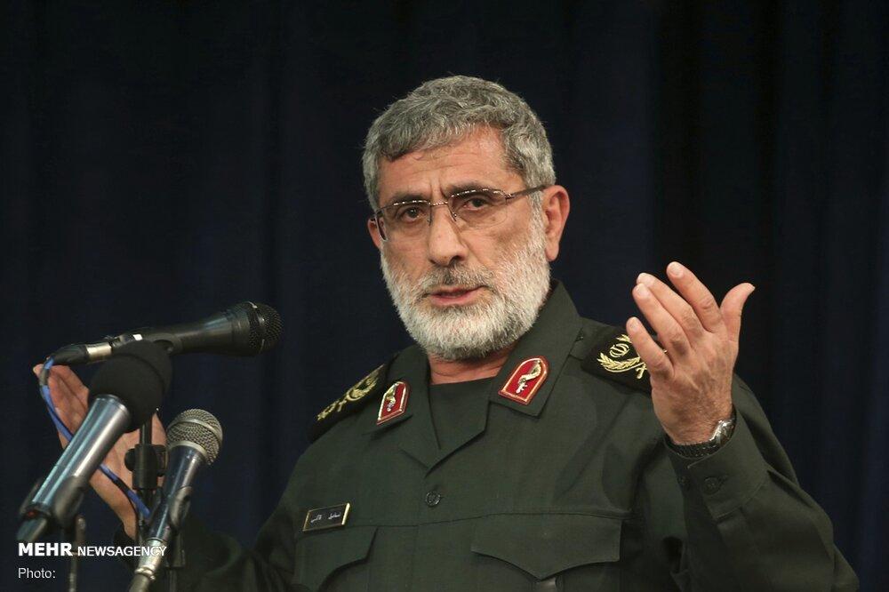 سردار قاآنی: استخوانهای دشمن در حال خرد شدن است/ ضرورت خروج آمریکا از منطقه