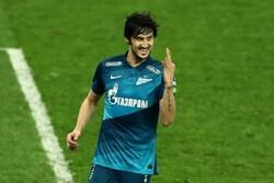 Azmoun scores hat-trick for Zenit