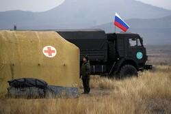 Dağlık Karabağ'a giden Rus askeri uzmanlar hasta kabulüne başladı