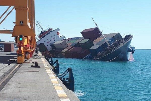 غرق سفينة الشحن الايرانية توران عند مصب نهر أروند
