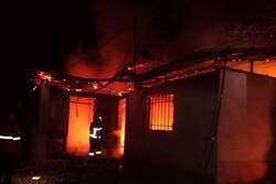 آتش سوزی به باغ جهانی و تاریخی عباس آباد آسیب نزد