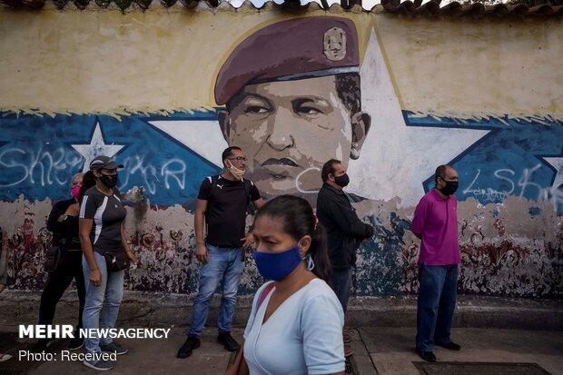 Venezuela'daki parlamneto seçimlerinden fotoğraflar