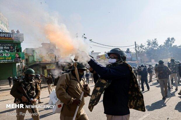 اعتراضات کشاورزان هندی نسبت به قانون جدید