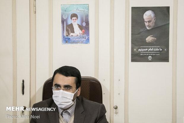 بازدید روحالله متفکر آزاد از دفتر خبرگزاری مهر در تبریز