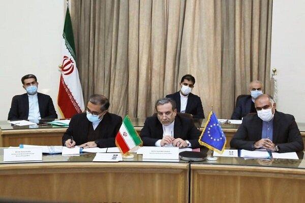 Iran, EU hold 5th round of high-profile talks online