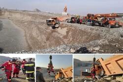 جلوگیری از سقوط کامیون به دره ۳۰ متری توسط آتش نشانان شهر قدس