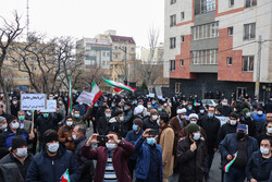 People gather in front of Turkish Consulate in Tabriz