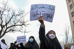 تجمع مردم تبریز مقابل کنسولگری ترکیه در واکنش به اظهارات اردوغان