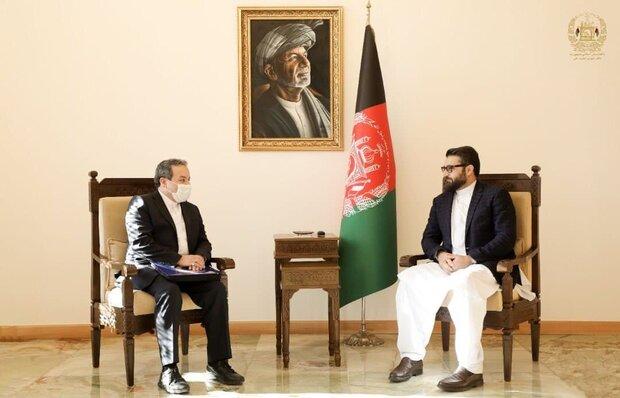 عراقچی کی افغانستان کی قومی سلامتی کے مشیر سے ملاقات