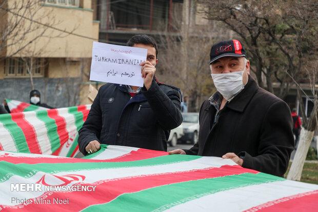 تجمع مردمی در محکومیت موضع اردوغان  در تبریز