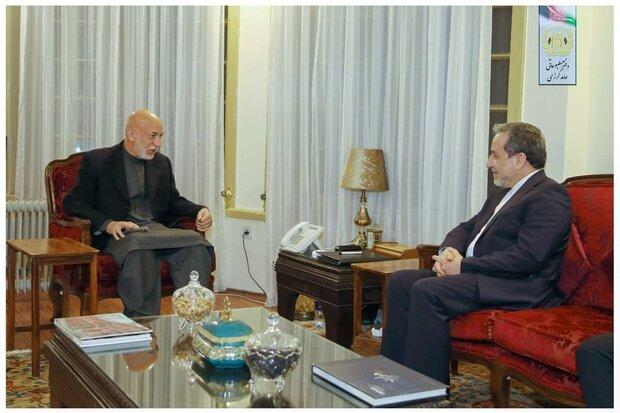 سید عباس عراقچی کی حامد کرزائی سے ملاقات اور گفتگو