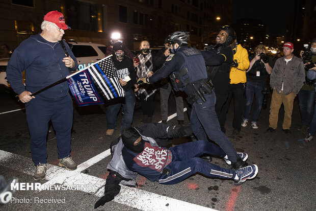 Trump supporters, opponents engage in violent clash