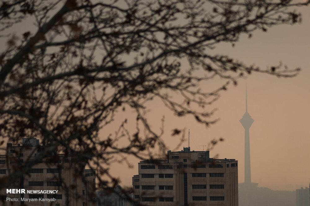 کیفیت هوا در سراسر پایتخت آلوده است