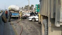 حادثه ترافیکی محور اردستان – مهاباد ۵ مصدوم داشت