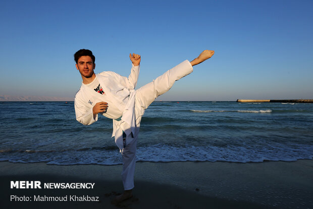 Iran Karate team's training on Kish Island