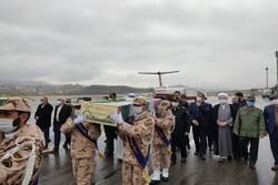 ادای احترام کردستانی ها به مقام شامخ ۴ شهید گمنام دفاع مقدس