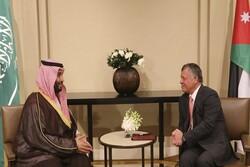 تماس تلفنی ولیعهد سعودی با شاه اردن