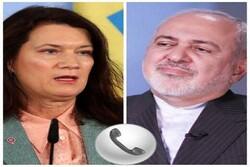 Zarif, Swedish counterpart discuss JCPOA, bilateral ties