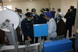 امیر نصیرزاده از مرکز تولید ماسک و تجهیزات پزشکی نهاجا بازدید کرد