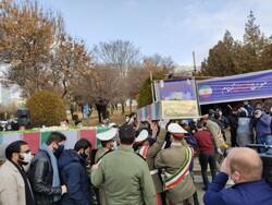 پیکر مطهر شهدای گمنام در دانشگاه فرهنگیان کردستان تشییع شد