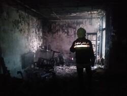 آتش سوزی در منزل مسکونی ۲ طبقه در خیابان خانه اصفهان
