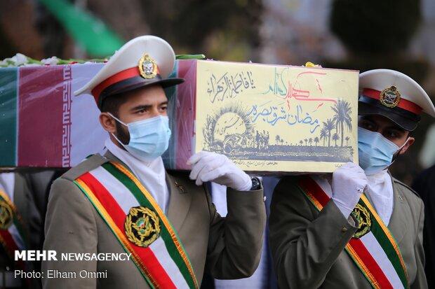 برگزاری مراسم تشییع و تدفین شهدای گمنام در دانشگاه فرهنگیان کردستان