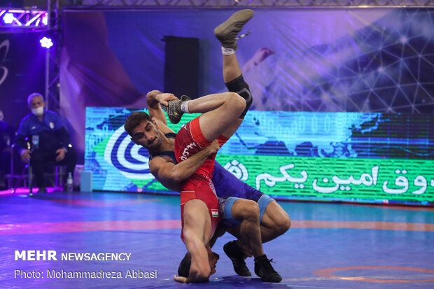 Final of Iran freestyle wrestling league