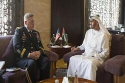 رئیس ستاد مشترک ارتش آمریکا با ولیعهد ابوظبی دیدار کرد