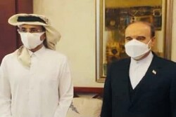 دیدار وزیر ورزش با همتای قطری قبل از تماشای بازی پرسپولیس