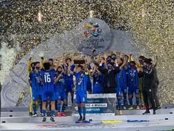 جشن قهرمانی اولسان با نورپردازی ورزشگاه جام جهانی