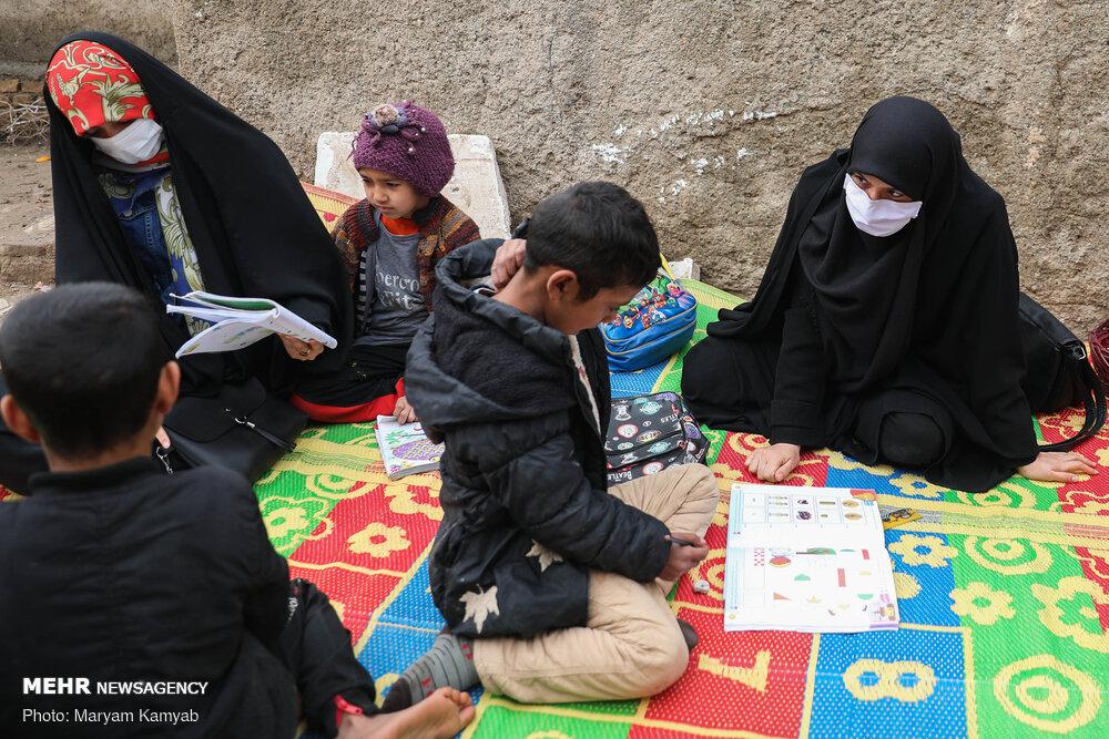 یلدا در کنار بچههای کورههای آجرپزی