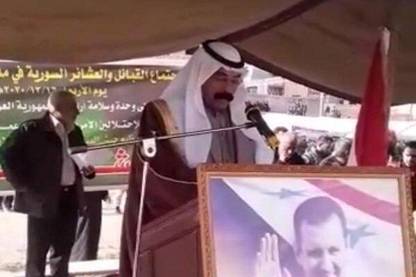 جميع القبائل والعشائر العربية ترفض التواجد الامريكي في المنطقة بكافة اشكاله + فيديو