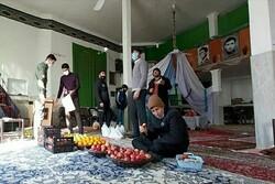 ۸۰ بسته مواد غذایی شب گذشته در حاشیه شهر شیروان توزیع شد