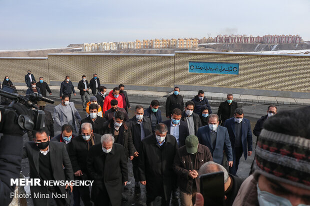 Road minister's trip to Tabriz