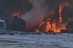 آتشسوزی در ایالت واشنگتن/ قطار حامل نفت خام از ریل خارج شد