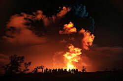 فوران آتشفشان جزیره هاوایی در آمریکا