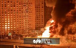 انفجار و آتش سوزی عظیم در یکی از خیابانهای نیویورک