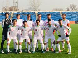 پیروزی تیم فوتبال نوجوانان ایران مقابل تاجیکستان