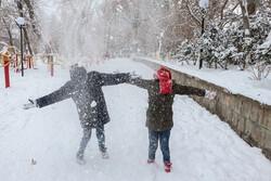 Snow brings joy to Tabriz