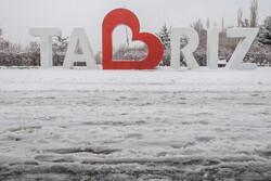 Winter snow blankets Tabriz