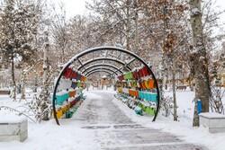 Winter snow whitens Bojnurd