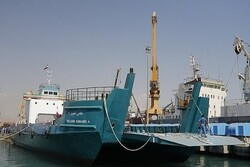 A landing craft ship capsized in S Iran
