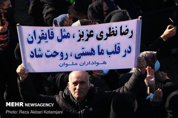 وداع مردم انزلی با محمدرضا نظری آقای خنده گیلان - انزلی