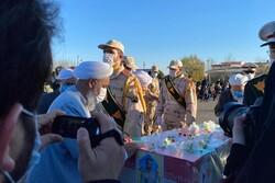پیکر شهید مرزبانی گلستان تشییع شد