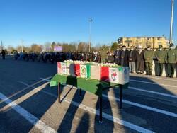 تشییع و تدفین پیکر شهید مدافع امنیت در گلستان