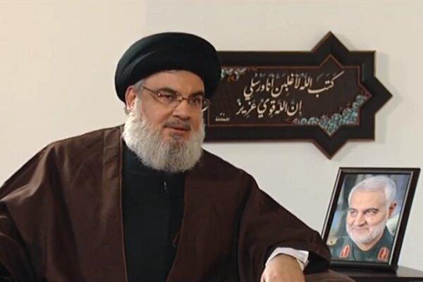 Martyr Soleimani always on front lines of war: Nasrallah