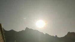 سقوط یک شی آسمانی درخشان در چین